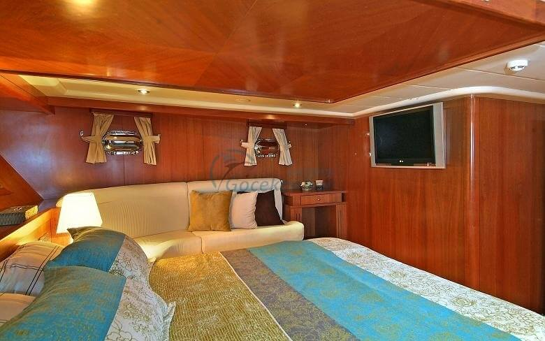 Located in the Deluxe category, our boat is ready for your blue cruise holiday plans with its 4 comfortable cabins and experienced crew.