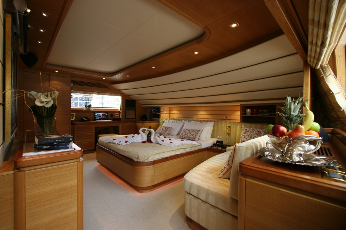 There are 1 master, 2 double, 2 twin - ek ranzali cabins in our boat, which has a length of 30 meters and a width of 7 meters.