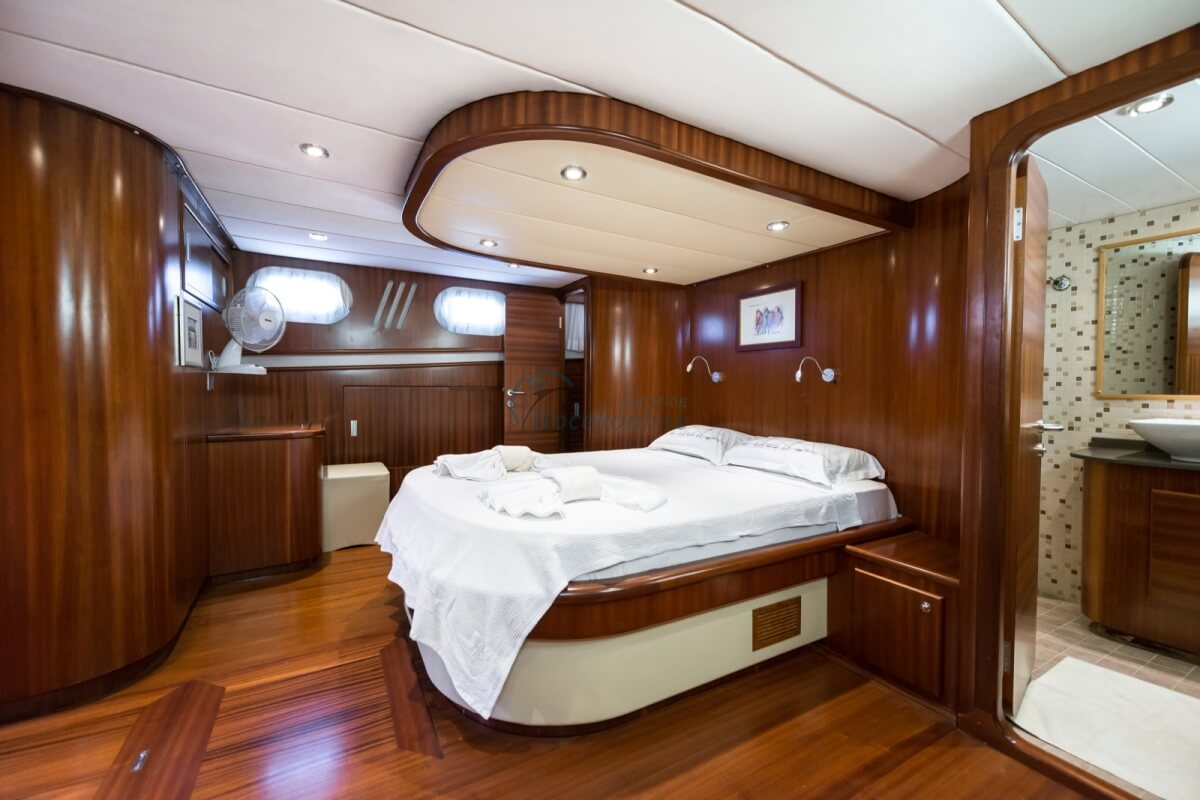 Our yacht, which was built in 2011, has been completely revised in 2020 and it provides blue cruise service with its air conditioned 1 master, 2 double, 1 twin cabin alternatives.